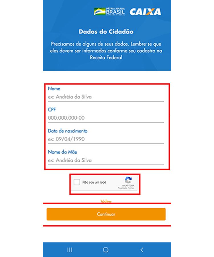 Auxilio Emergencial app 3