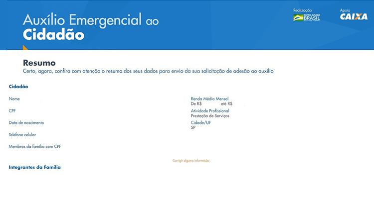 Auxilio Emergencial site 10