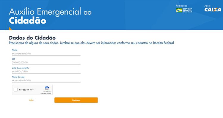 Auxilio Emergencial site 3