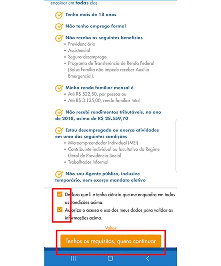 Auxilio Emergencial app 2