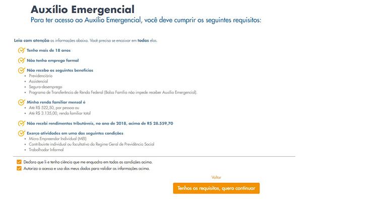 Auxilio Emergencial site 2