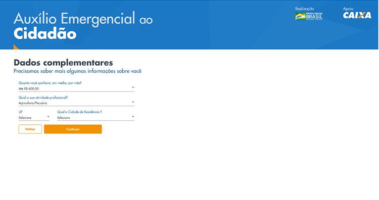 Auxilio Emergencial site 6