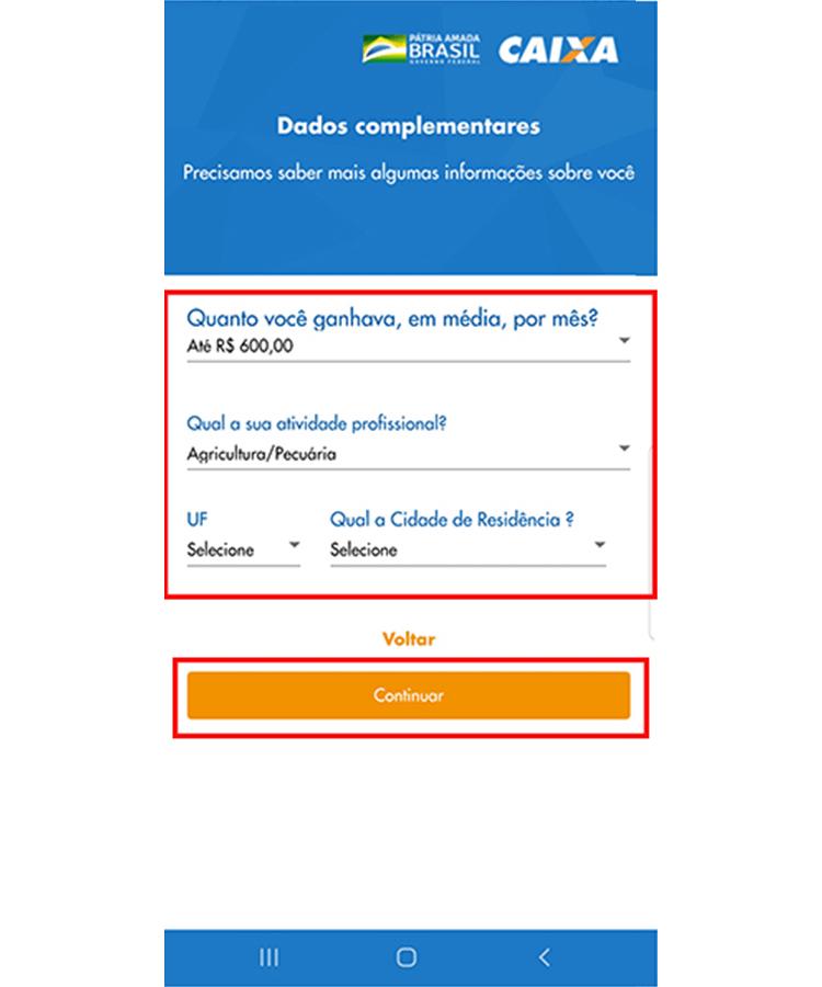 Auxilio Emergencial app 6