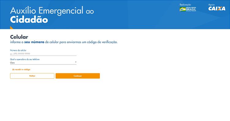 Auxilio Emergencial site 4